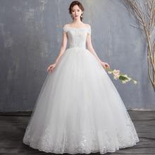 Cap Sleeve Wedding Dresses 2019 boat neck bride bridal gown Vintage plus size maxi Customer made Off Shoulder princess