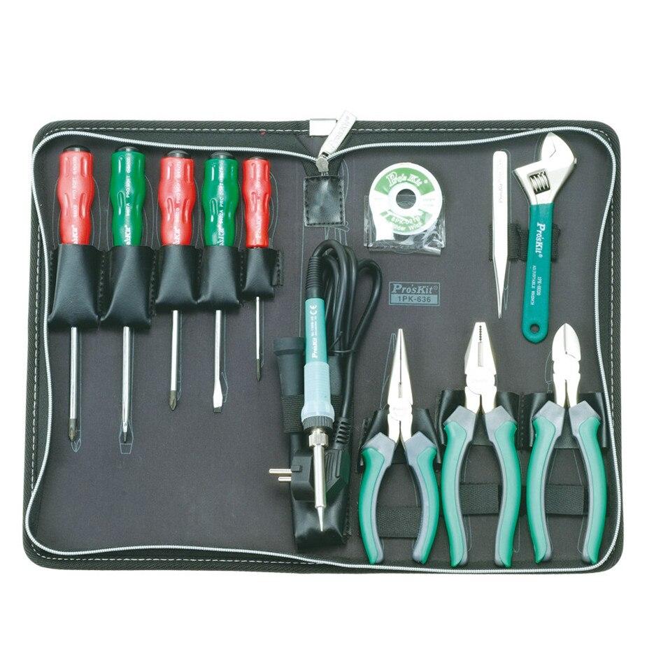 Горячая Prokit набор инструментов для домашнего ремонта 13 комплектов общий набор инструментов для дома крестовая отвертка 1PK 636B 1