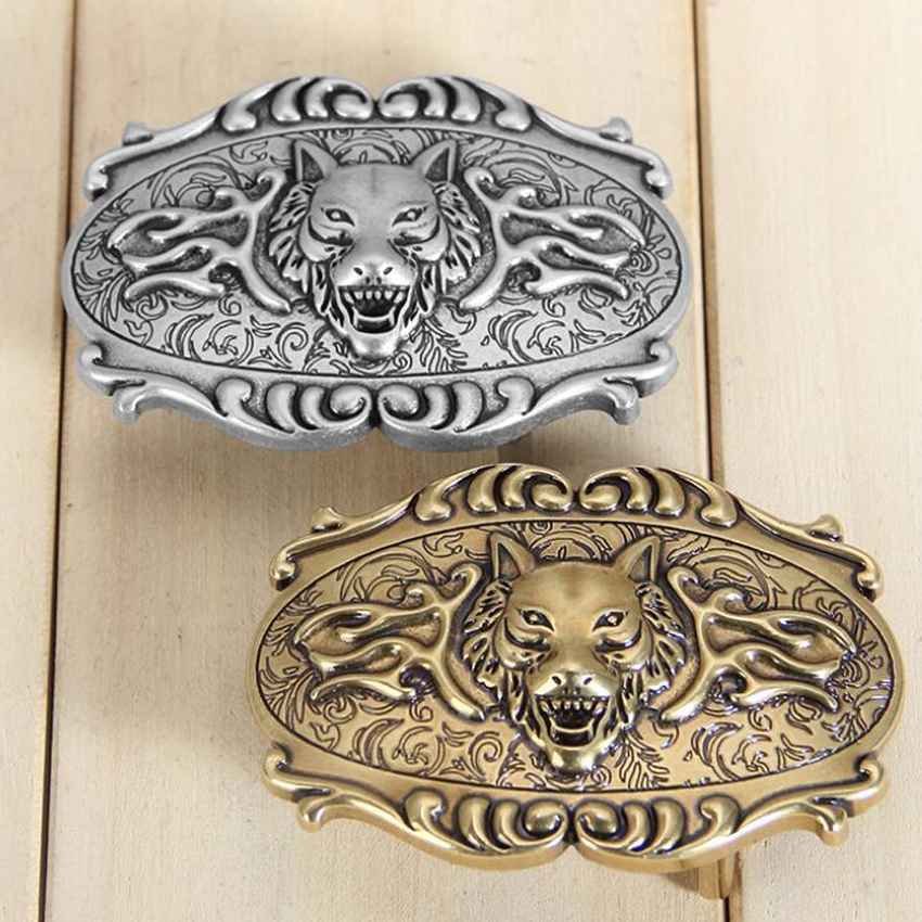 Fashion Man's Belt Buckle Plate Buckle Bronze Belt Buckle Size:5*7cm,Suitable For 3.3-3.8cm Belt NEW Belt Agio 3D Animal Stud