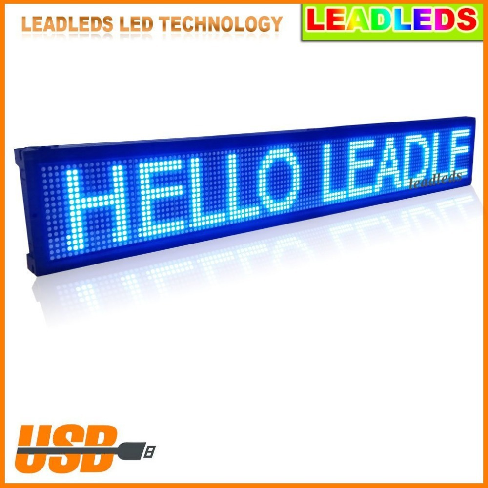 1.25m Programmable Scrolling Message LED Sign -BLUE Color