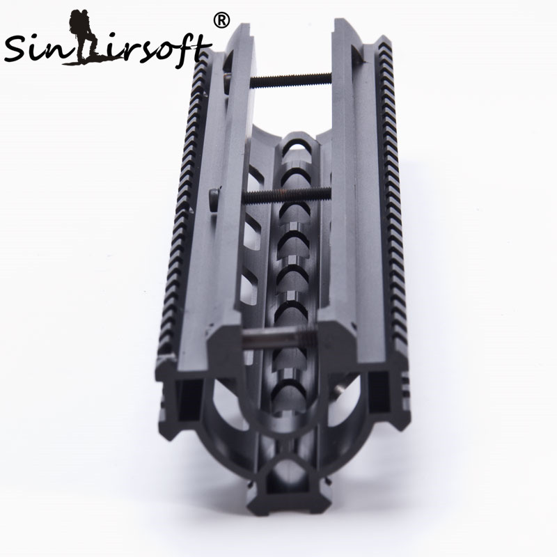 SINAIRSOFT One-Piece Tactical Tri-Rail Handguard Rail Scope Mount System For HK G3, 91, PTR-91  and Compatibles MNT-TG3TR-5