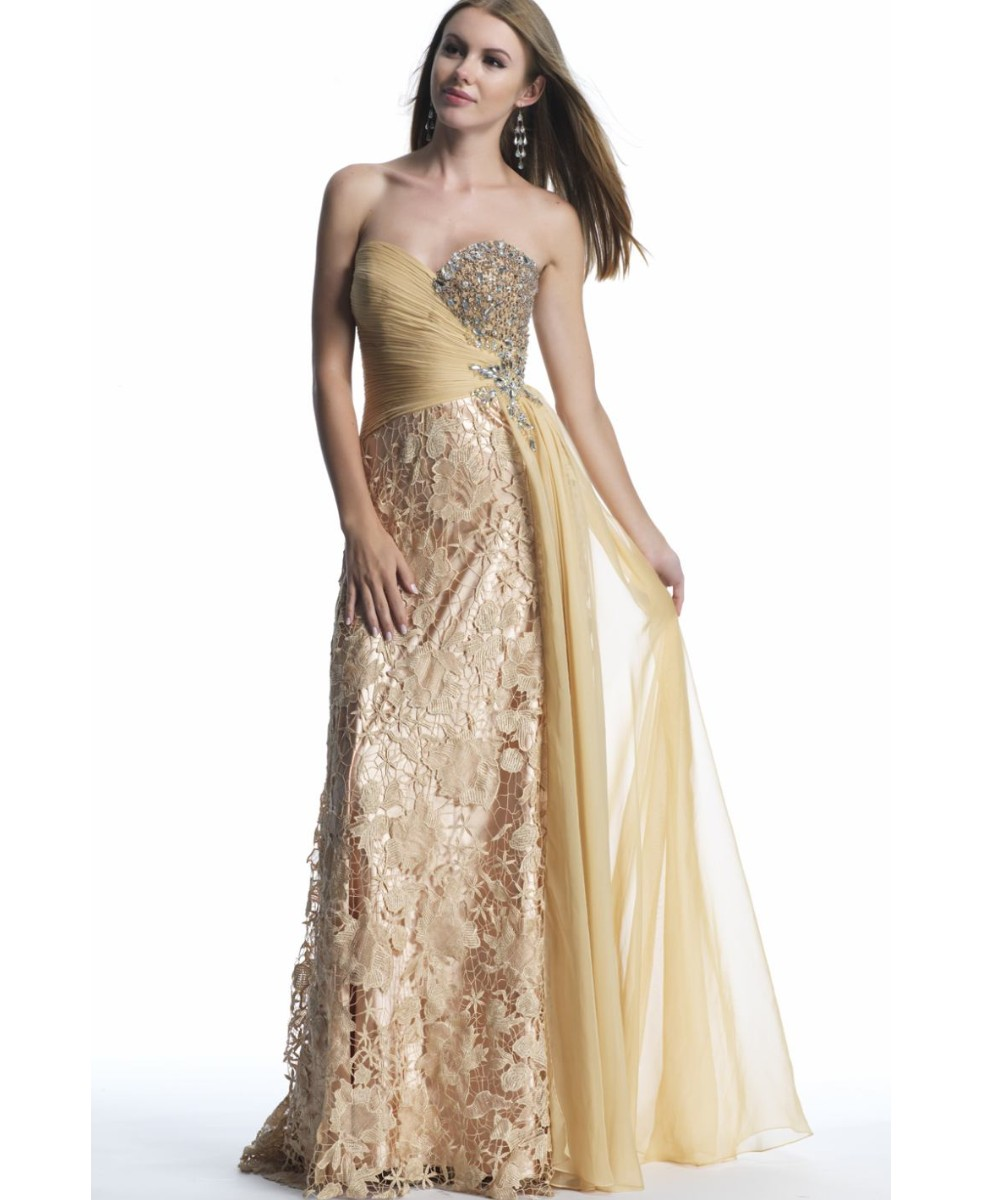 Gold Formal Gown Cheap – fashion dresses