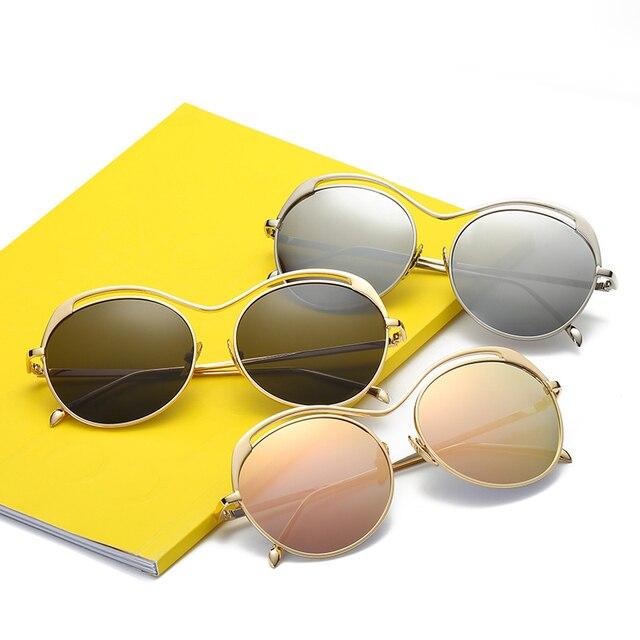 1059ccf481 Original Brand Designer Design Sunglasses Women Polarized Round Alloy Sun Glasses  Anti Glare Colorful Driving Ladies
