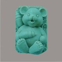 Darmowa wysyłka!! spanie little baby bear silikonowe formy/mydło mold/ciasto pleśni/chocolate mold