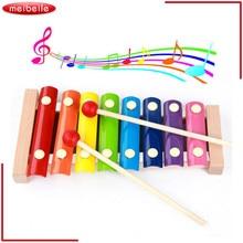Children Baby Musical Toy Wisdom Development Wooden Instrument improve Kid sensitive colors Music Instrument Gift
