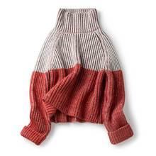 BOHO INSPIRÉ rouge blanc rayé tricoté pull à col roulé pour femmes automne  hiver manches longues chaud pulls pulls 2018 e4cf31a8f6f
