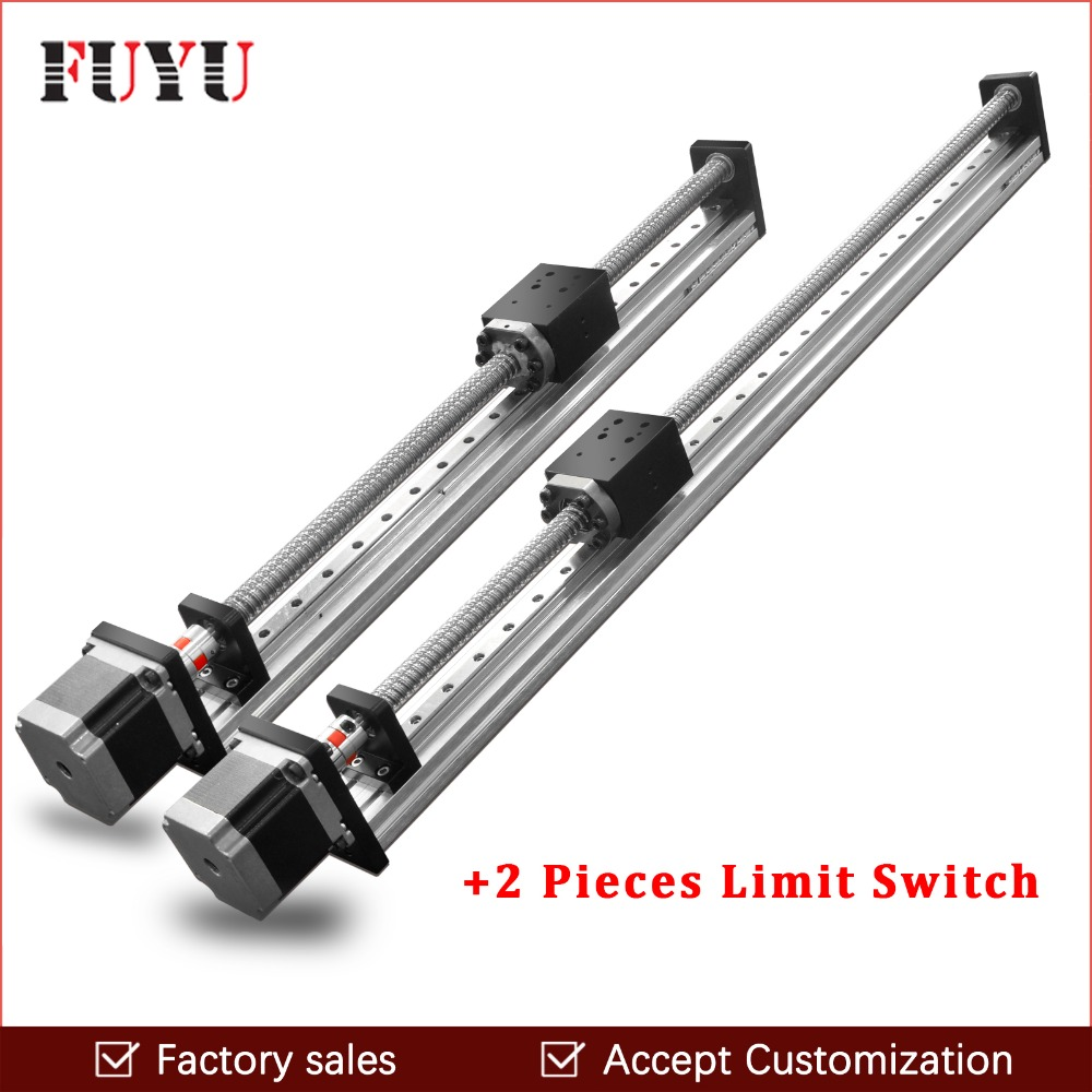 Free shipping 300mm stroke Linear Motion Guide Slide Rail Ball Screw For Cutting Machine free shipping fuyu brand belt driven 2000mm stroke linear motion guide rail for printer