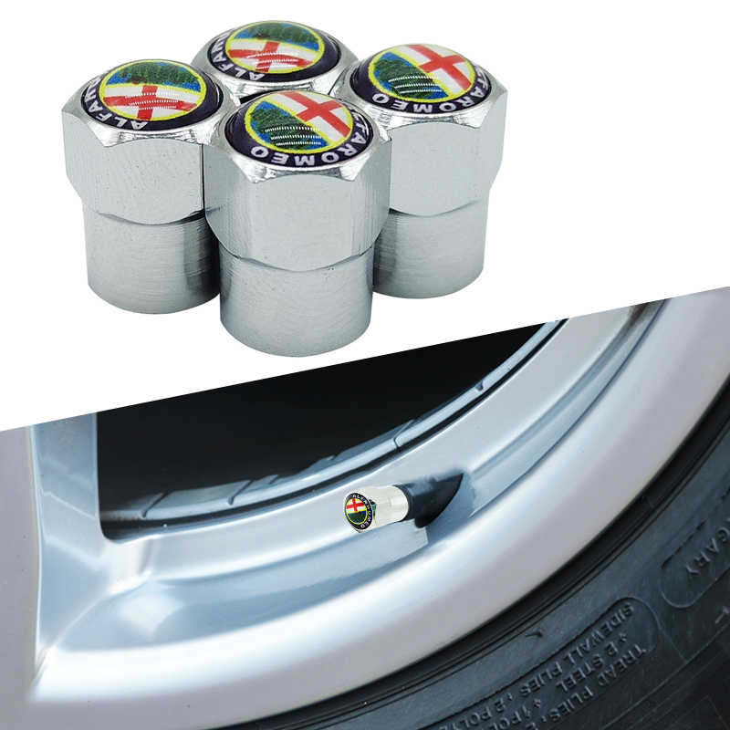 4pcs/lot car styling Wheel Center Hub Cap Badge logo Sticker for Alfa Romeo Giulietta Spider GT Giulia Mito 147 156 159 166