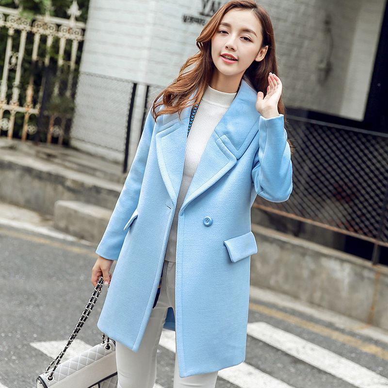 Coats Promotion Mandarin Collar Full Solid Single Butterfly Sleeve No 2017 New Female Korean Slim Size