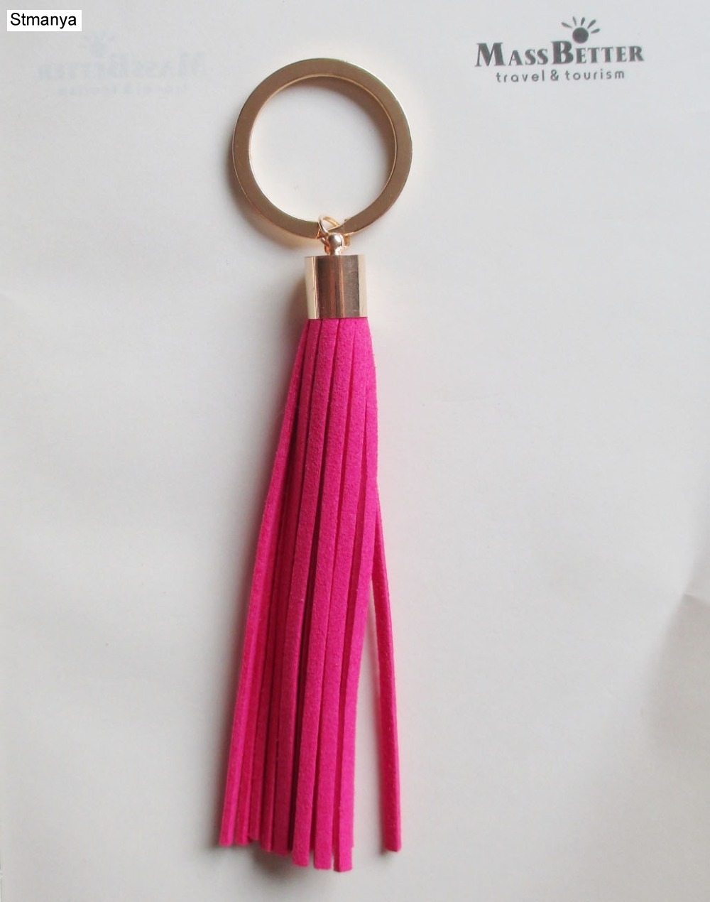 Fashion Tassel Key Chain Women bag charm accessories Tassel Key Holder Korean velvet leather Car Key Ring gift jewelry <font><b>17014</b></font> image