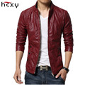 2016 brand-clothing spring slim fit Men's leather jacket and coat faux PU leather biker jackets male fur coat motorcycle jacket