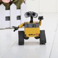 6 10cm 2pcs Set Wall E Robot Wall E EVE PVC Action Figure Collection Model Toys