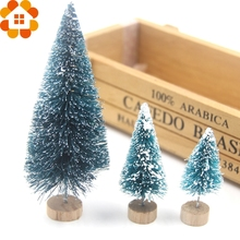 New Arrival!1PC Christmas Tree 3sizes Mini Xmas A Small Pine Tree Placed In The Desktop Home/Christmas Party Decoration Gifts(China)