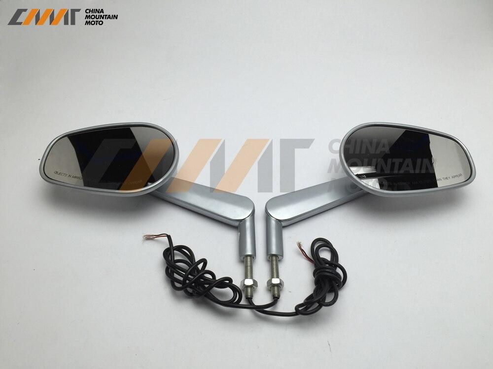 Silver Rear View Mirrors Muscle LED Turn Signals Light case for Harley V-ROD V ROD VRSCF все цены