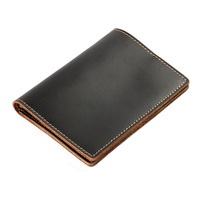 New Vintage Top Quality Genuine Leather Passport Cover Travel USA Men Passport Case Multifunction Case For
