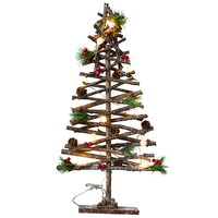 Hot Selling Christmas Tree Ornaments Natural Clubs Stars Hearts Lights Lamps Table Top Ornaments Decorations Christmas Ornaments