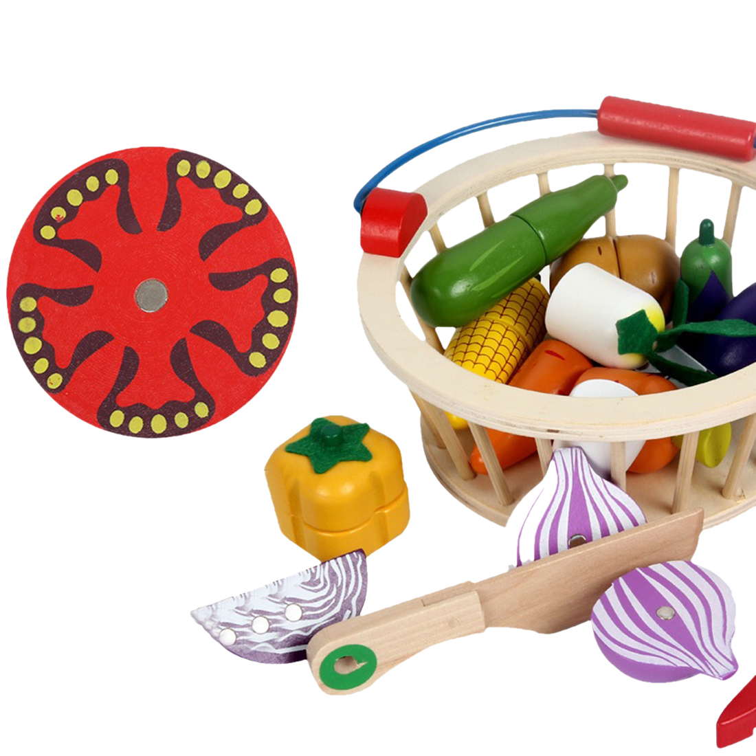 & fingir simulação cesta redonda kits frutas