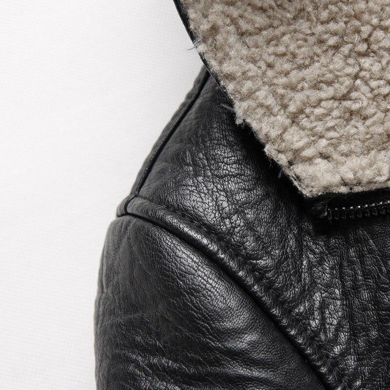 Mode européenne et américaine Style de rue Outwear Plus velours veste en cuir nouveau décontracté hommes grande taille manteau 4XL 5XL - 4