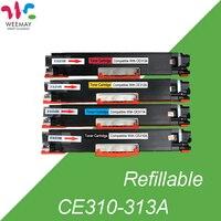 1set laser printer toner cartridge (CE310A/CE311A/ CE312A/CE313A) compatible for HP LaserJet CP1025/1025nw/M175a/M275/M175nw