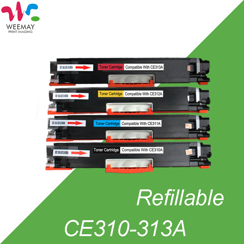 1set laser printer toner cartridge (CE310A/CE311A/ CE312A/CE313A) compatible for HP LaserJet CP1025/1025nw/M175a/M275/M175nw 4pk ce310a ce311a ce312a ce313a compatible color toner cartridge 126a for hp laserjet cp1025 cp1025nw m275mfp m175a m175nw