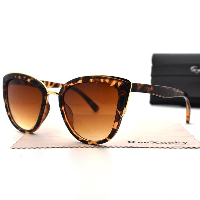 الأزياء 2019 القط العين النظارات الشمسية المرأة ريترو ليوبارد إطار Cateyes نظارات شمسية في الهواء الطلق محب السيدات ظلال UV400 النظارات أعلى