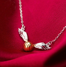 Harry Potter/partido de Quidditch/Snitch Dorada collar/collar de plata 925/productos de películas.
