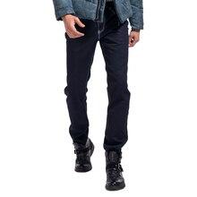 Lesmart мужские деловые мода свободного покроя прямо твердые проветривайте классические джинсы долго легко — уход брюки свободного работа джинсовые брюки