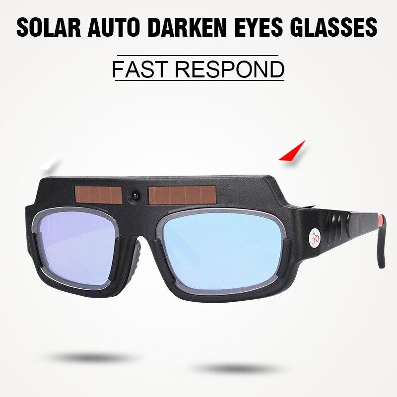 Solar-Auto Verdunkelung Augen Maske Schweißhelm Schweißmaske Eyeshade/Patch/Augen Schutzbrillen für Schweißer Augen Gläser