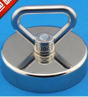 Offre spéciale! Super N52 75mm néodyme fer bore aimant avec anneaux circulaires pour la récupération prix de gros prix le plus bas