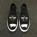 Europese Real Leather Borduren Bijen Heren Beslagen Schoenen Lui Schoenen Casual Loafers Klimplanten Shinny Man Jurk Party Schoen