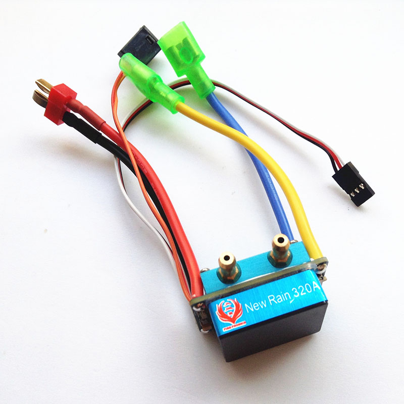 1PC Water-cooled 320A ESC 11.1V 2S-3S Bidirectional Brushed ESC Waterproof Speed Controller for RC Boats 550/775 Motors 320a waterproof rc boat esc eletric speed controller for rc crawler car boat regulator spare parts 7 2 16v with fan two motors