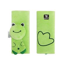 2pcs Baby Car Seat Belt Shoulder Pad Strap Cover Baby Cartoon Stroller Accessories (Frog)(China)