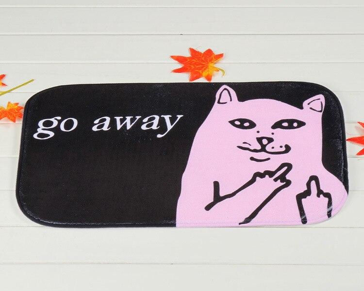 Attrayant Plush Fabric Middle Finger Go Away Grumpy Cat Door Mat Doormat Home Room  Decor Carpet Vintage Rug Drop Shipping In Mat From Home U0026 Garden On  Aliexpress.com ...