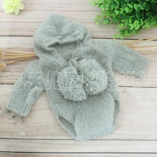 Di lavoro a maglia Del Bambino Appena Nato Ragazzo Con Cappuccio  Pagliaccetto A Mano knit Unisex 7b80cfdd66e5