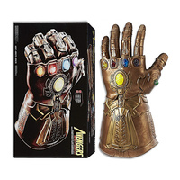 Marvel Thanos Hot Toy Legends Series Avengers Infinity Gauntlet Lights and Sounds Moveable Fingers Cosplay Electronic Fist Toys