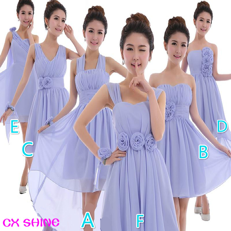 CX SHINE CUSTOM New wedding Mix short style mini bridesmaid dresses ...
