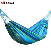WFGOGO Individual Hammock Portable Camping Garden Beach Travel Hammock Outdoor Ultralight Colorful Cotton Polyester Swing Bed