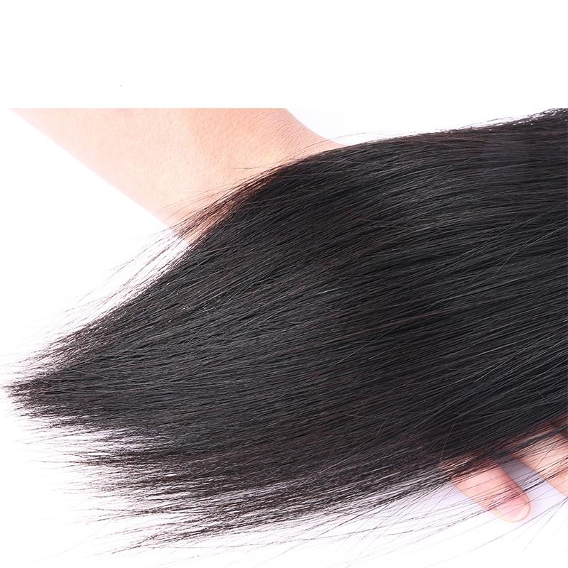 Brazilian Virgin Hair Straight 100% Human Hair Weave Bundles kan - Mänskligt hår (svart) - Foto 6