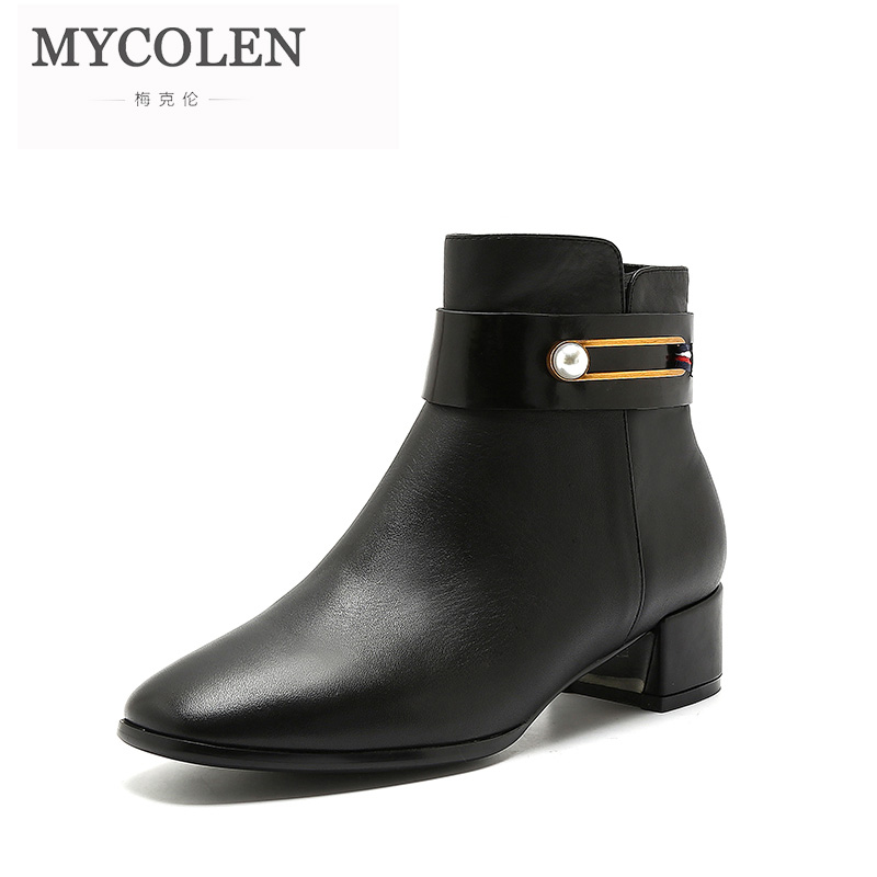 MYCOLEN Woman Winter Chelsea Boots Luxury Designers Fashion Black Motorcycle Boots Comfortable Autumn Zipper  BootsMYCOLEN Woman Winter Chelsea Boots Luxury Designers Fashion Black Motorcycle Boots Comfortable Autumn Zipper  Boots