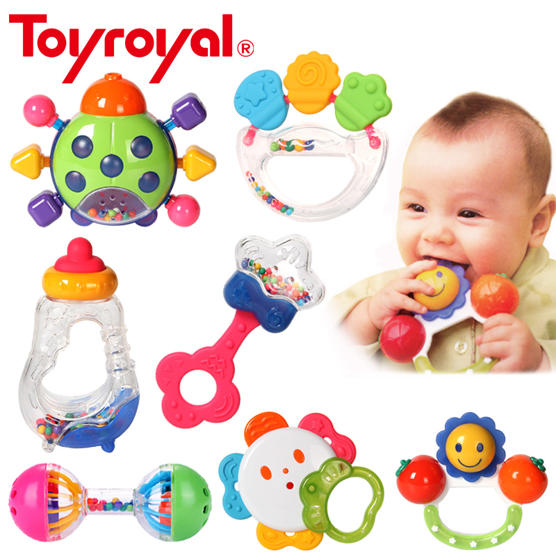 Toyroyal Baby Teething Teether Rattle Safe Sensory Educational Developmental Toys For Children Boiled Steam Clean Infant Gift