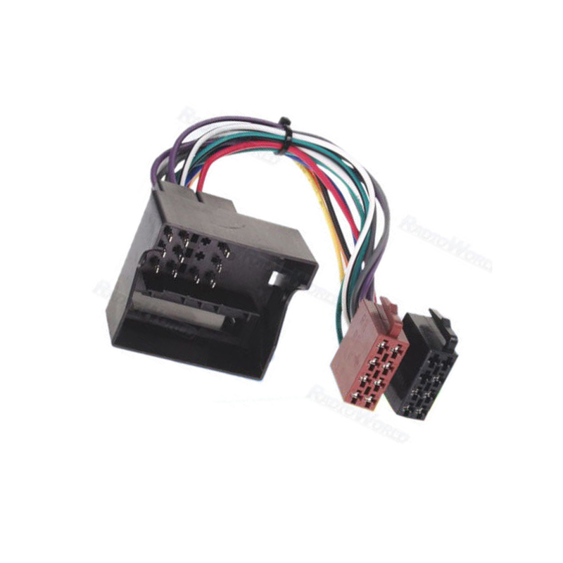 US $8.41 6% OFF|New iso Wiring Harness Adaptor ISO Radio Loom Lead on vw turn signal wiring harness, vw radio removal tool, vw bus wiring harness,