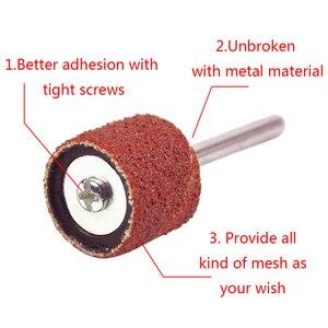 Image 3 - Kit de ponçage de tambour bande de ponçage 1/8 pouces mandrins de sable adaptés pour Dremel perceuse à ongles outils rotatifs Accessori Dremel
