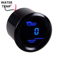 52mm Water Temp Gauge Universal Motor Car Accessories Black Cover Blue LED Digital Water Temperature Meter