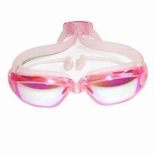 Professional Silicone transparent Swimming Goggles Anti-fog UV  kids Sports Eyewear Swimming Glasses With Earplug for children