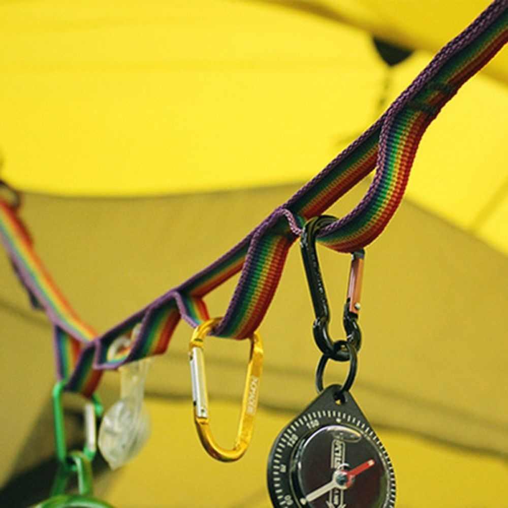 1 pc multiuso colorido tenda pendurar cordão corda cabo para acampamento ao ar livre caminhadas acessórios