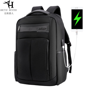 Image 1 - ARCTIC HUNTER 15.6 นิ้ว Professional กันน้ำแล็ปท็อปกระเป๋าเป้สะพายหลัง USB กระเป๋าเป้สะพายหลังกีฬา Casual โน้ตบุ๊คกระเป๋าเดินทางชาย 2019