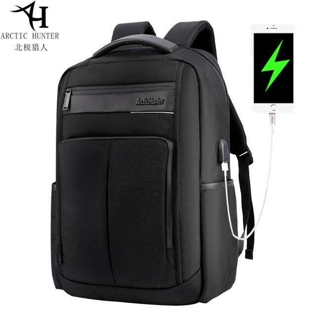 7ecb3bfb7d ARCTIC HUNTER Waterproof Men Laptop Backpack USB Charge School Backpack  Nylon Large Capacity Mochila Casual Male