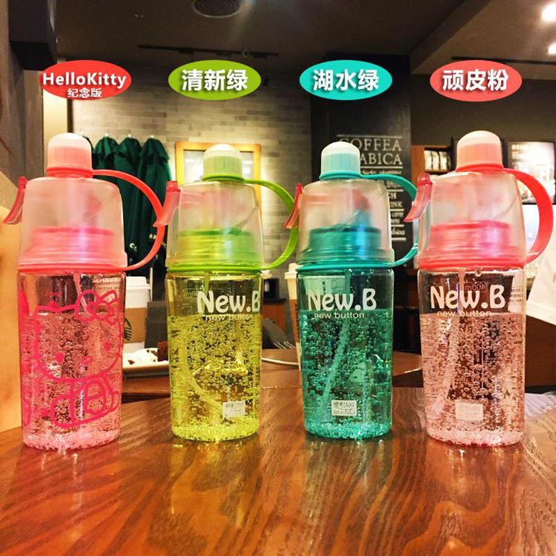 New Arrival Sports Spray Water Bottle Dual use Bpa Free Bottle For Water Fashion Plastic Cups