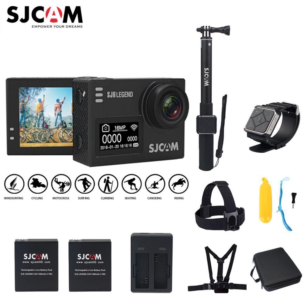 SJCAM SJ6 Leggenda Novatek96660 Gyro 4 k Ultra HD di Azione WiFi Della Macchina Fotografica di Azione di Controllo Remoto Video Cam 16MP Impermeabile di Sport macchina fotografica