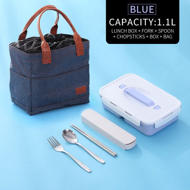Blue Bag Tableware Cheap bento boxes silicone collapsible 5c6479e2ed796